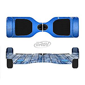 The Snowy Blue Wooden Dock Full-Body Wrap Skin Kit for the iiRov HoverBoards and other Scooter (HOVERBOARD NOT INCLUDED)