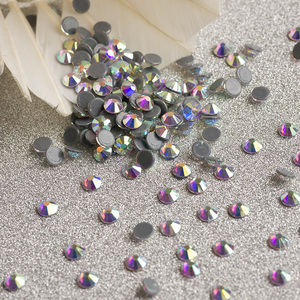 Bulk Rhinestones Wholesale Crystal ab Color hot fix Rhinestone hotfix rhinestone alibaba beads