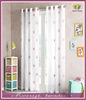 High Grade Pink Flower Embroidered Sheer Curtain