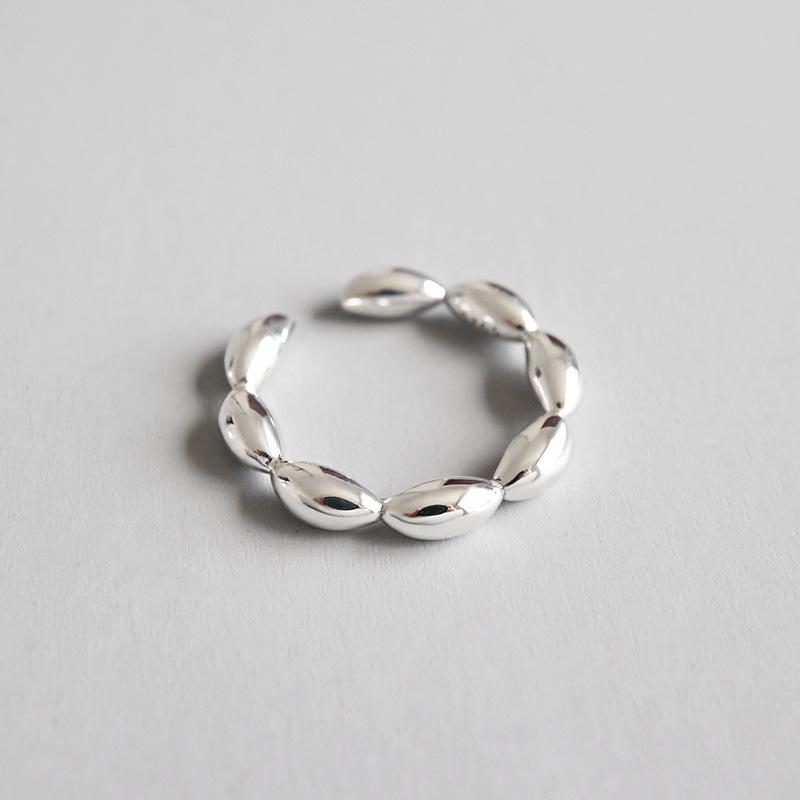 cbe6e95b04f1 ZXYR071 coreano S925 de plata esterlina estilo simple de brazalete anillo  hembra estudiante joyería de plata