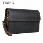 Tiding New Fashion Crazy Horse Genuine Leather Men's Wallet Clutch Bag For Wholesale