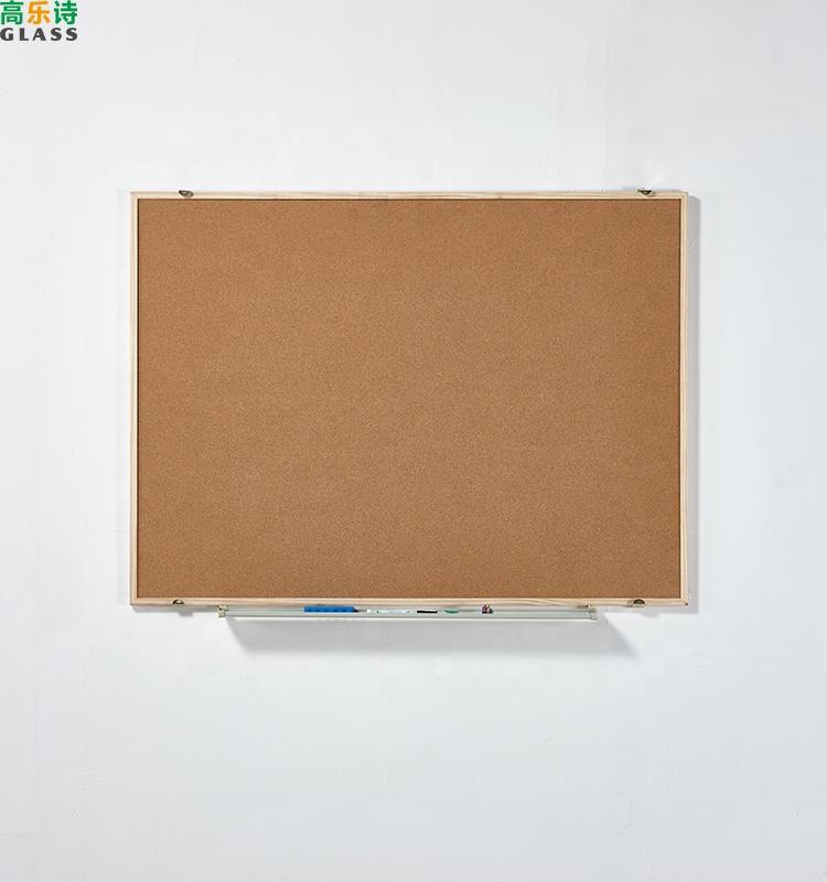 Wooden Frame cork board notice pin black notice board