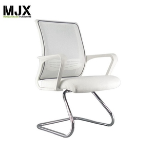 Top grade best sell stacking visitor chairs Chrome tube office seating no wheels chairs mesh chair