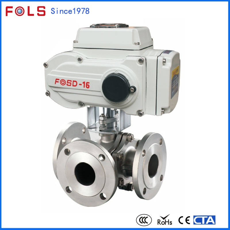 industry electric on-off modulating three-way motorized valve