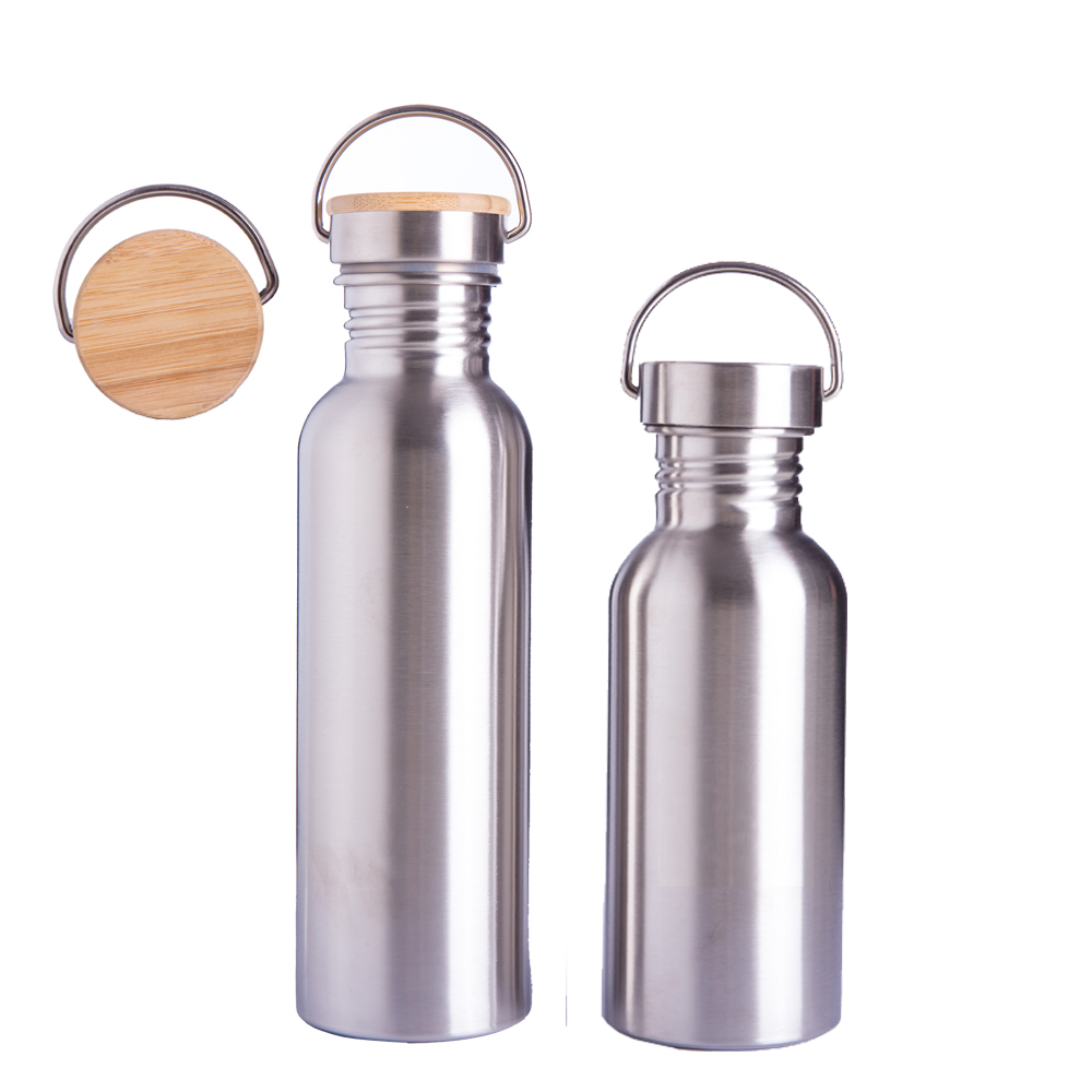 GS001 no minimum 750ml 18/8 <strong>sports</strong> stainless steel single wall <strong>sport</strong> water bottle bamboo flask