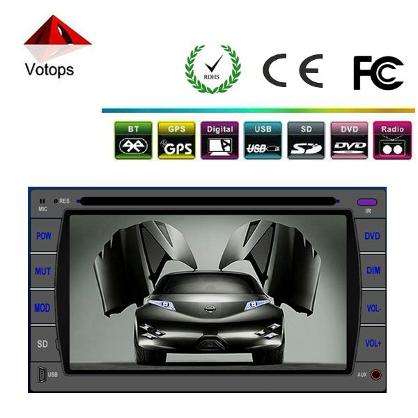 2 din car dvd player with BLUETOOTH/GPS/IPOD/DCD/VCD/CD/FM/AM