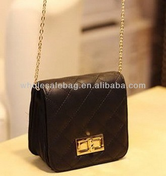 aded9bb33fd4 Square Quilted Small Sling Bag With Long Chain Messenger Bag Cross Shoulder  Bag For Girls Ladies