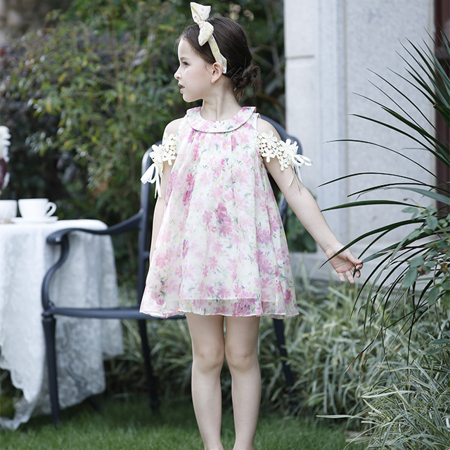 d4ffa48119671 100% القطن برج ايفل الفتيات الصغيرات فستان صيفي الاطفال الملابس