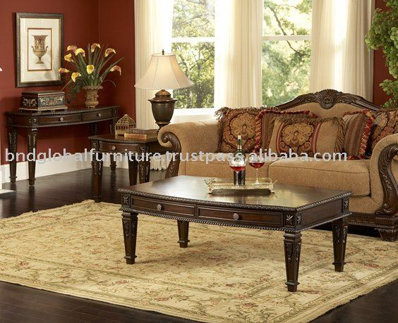 Living room set, madera juego ocasional, conjunto de mesa de café ...