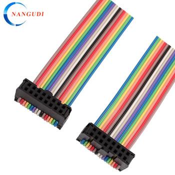 bf39326716ec 2.54mm Pitch 16pin 16 Ways Idc Rainbow Flat Ribbon Cable - Buy 2.54 ...