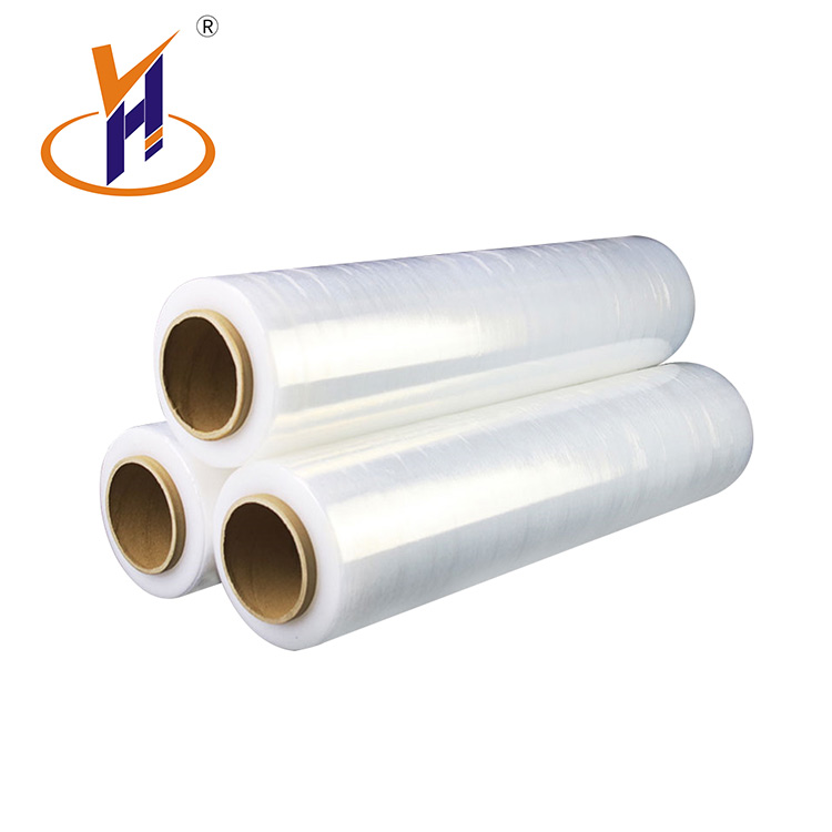 plastic packing transparent clear pe stretch wrap film rolls