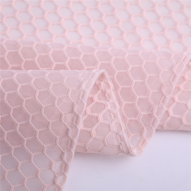 High quality 100 polyester pink mesh fabric for sports shoes