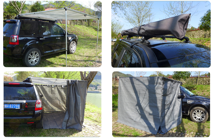 Retractable 4x4 Roof Tent Car Side Awning Rooftop Awning ...