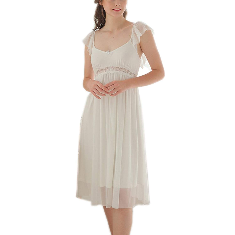 Get Quotations · Singingqueen Women Victorian Nightgown Ladies Princess  Nightdress Lounger Sleepwear PJ Short Sleeve Nightwear Nighty ac93ddfa6