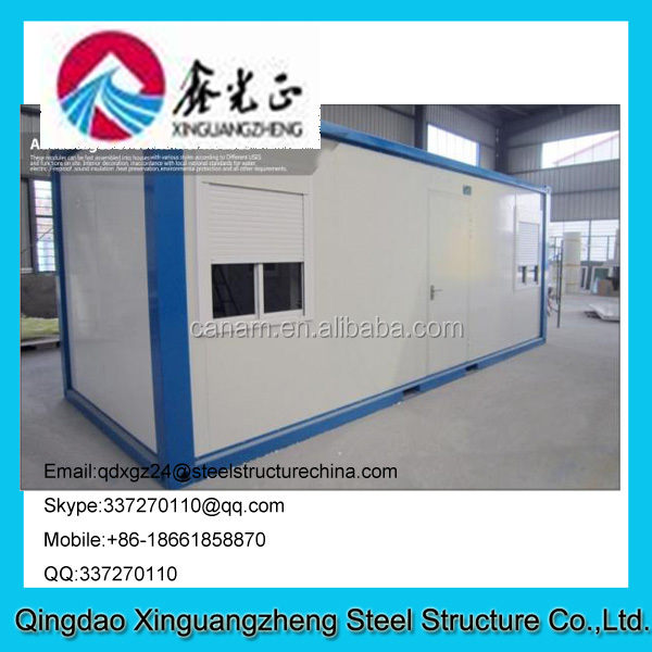 Waterproof Steel Blue and White Prefab Container House with EPS Sandwich Panel