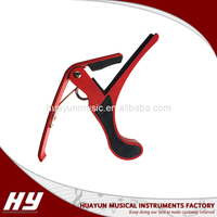 Aluminum alloy guitar capo for wood guitar and electric guitar