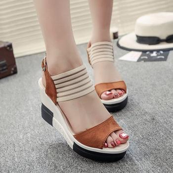 c4f2a2955ebd or20072a summer new arrivals wedge sandals shoes 2018 platform new sandal  for lady