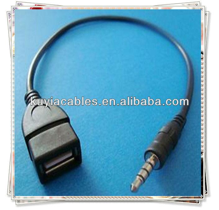 stecker auf 2 0 usb buchse kabel aux audio klinkenstecker. Black Bedroom Furniture Sets. Home Design Ideas