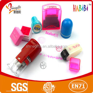 plastic shiny stamp for kids