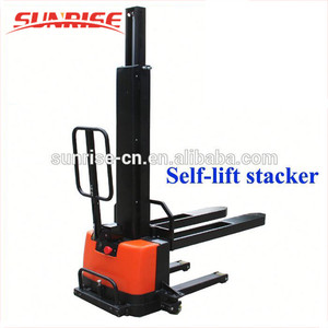 High quality manual trans pallet hydraulic shelf lift hand stacker