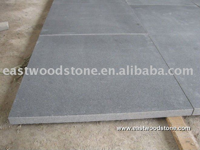 Honed Gray Granite Floor Tile Product On Alibaba