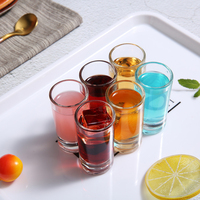 2019 Hot Sell Machine Pressed Juice Drinking Glass Cup Wine Shot Glasses For Home Using