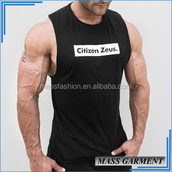 High Quality Cotton Spandex Black Racerback Tank Tops Mens Blank Tank Top