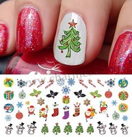 2016 Christmas Halloween Holiday nail sticker decals water transfer nail art stickers for sticker decal for nail beauty
