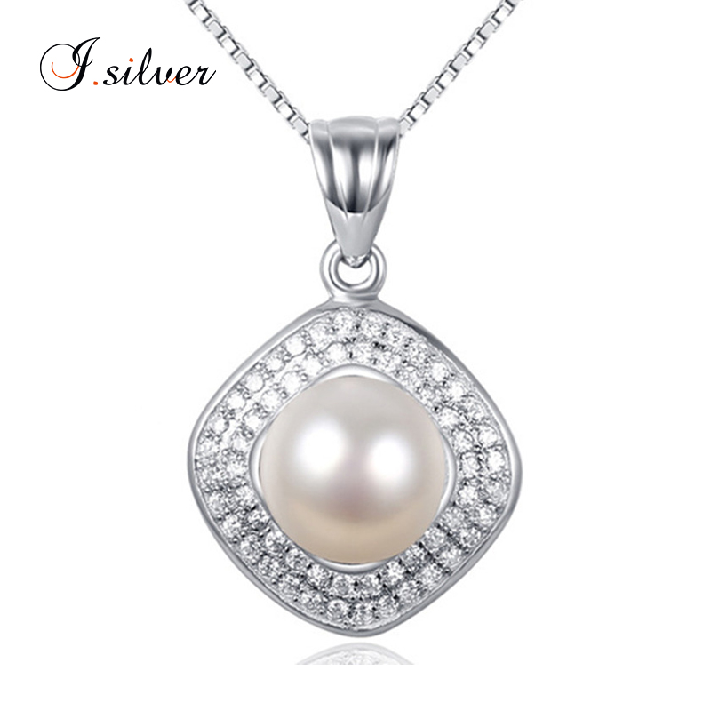wholesale 925 sterling silver fresh water pearl pendant pave jewelry findings P20025