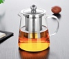 27 oz borosilicate heat-resistant Copper holder glass tea pot with infuser teapot