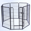popular eight panels black heavy duty strong puppy dog play pen