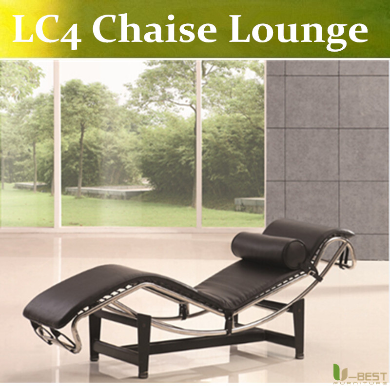 Le Corbusier Style Lc4 Chaise Longue Pony Leather Black Leather Chaise Promotion-Shop for Promotional Black ...