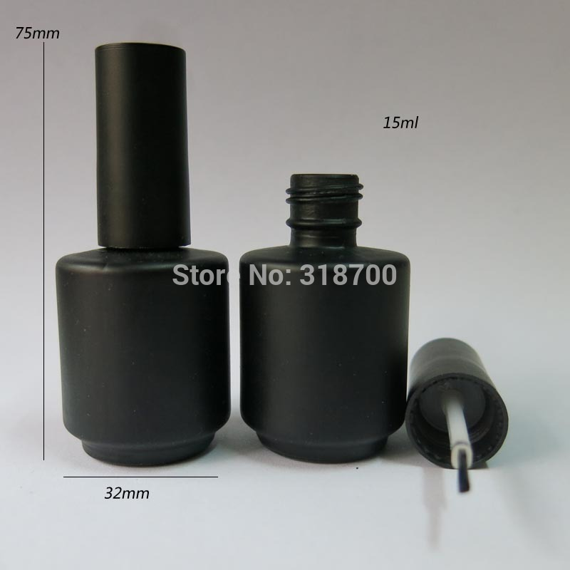 200 lot 15ml Black Empty Nail polish Bottle 15cc Black Glass Nail enamel bottle
