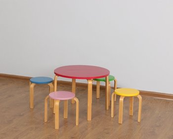 Children Table Set Bentwood Kids And Stool Wood S Stools Product On