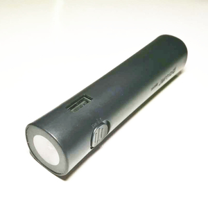 Emergency Power Source,Micro USB Black Color Ultra Slim Power Bank With Led Light Torch