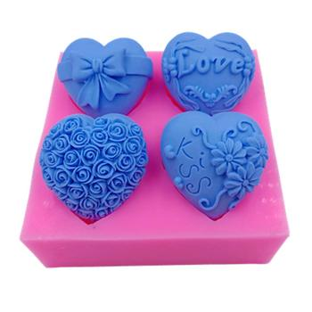 Custom Hearts Silicone Mold for Baking, Arts and Crafts, Candle and Soap Making