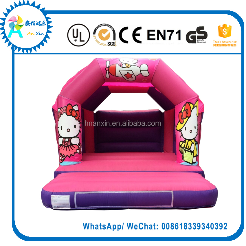 Small Inflatable Hello Kitty Bouncy Castle For Kids