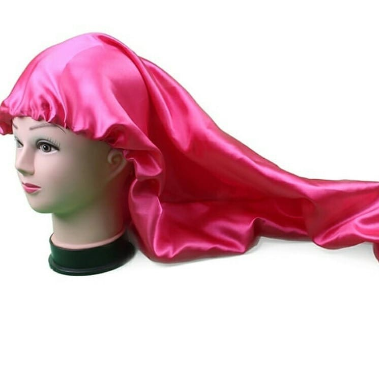 Bathroom Products Buy Cheap Customized Logo Name Brand Luxury Virgin Hair Extensions Wigs Bonnets Double Layer Silk Satin Sleep Cap With Wide Bands Bonnet Shower Caps