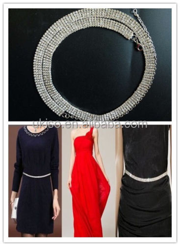 Ladies Women Crystal Rhinestone Diamante Waist Chain Belt 4 rows Silver Belly Charm Sparkly Belt