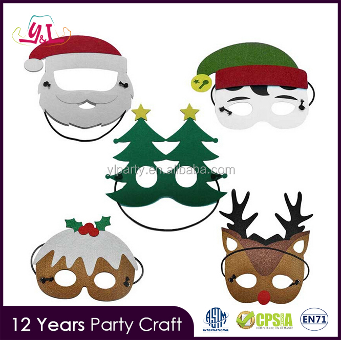 2017 New Premium Decorations XMAS Santa Claus Mask
