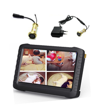 5 inch LCD DVR recorder 5.8g wireless peephole camera system