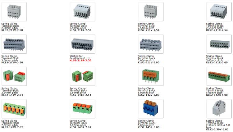 Good quality KLS brand spring cage clamp terminal block