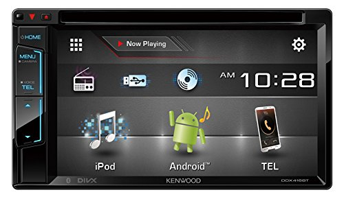 """Kenwood 6.2"""" Double Din Touchscreen DVD CD Bluetooth USB iPod Android Siri Eyes Free Dual Phone Connection Variable Color Illumination Car Stereo Receiver"""