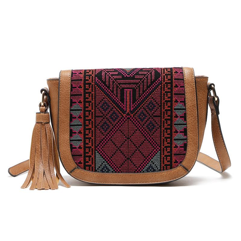 a6924bcbec 2018 SS seasonal New Ethnic Design Young Girl Latest Fashion Crossbody Bag