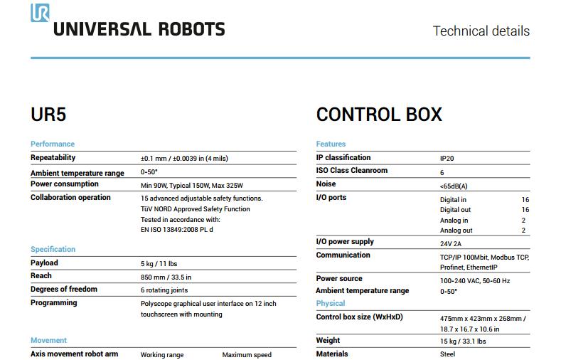 Universal UR5 UR5e Industrial Robots, View industrial robot, Universal  Product Details from Xiangjing (Shanghai) M&E Technology Co , Ltd  on