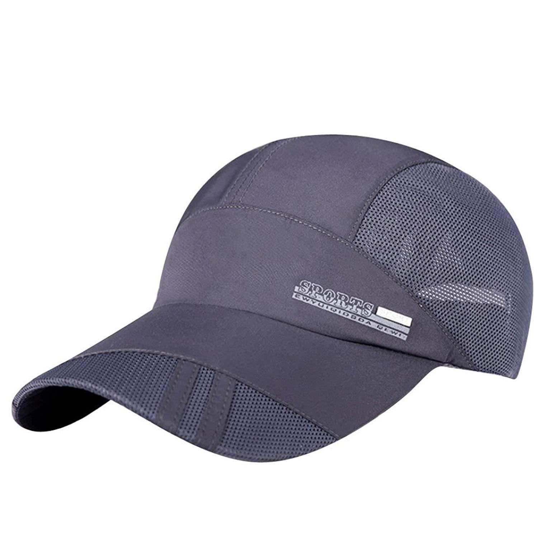 Funic Clearance Women Mens Mesh Hat Quick-Dry Collapsible Sun Hats Outdoor  Sunscreen Baseball dbbbfa3cd62