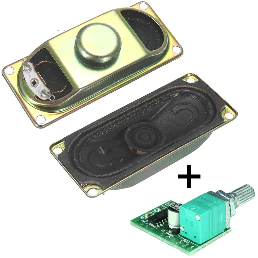 Buy Degraw DIY Speaker Kit - PAM8403 5V amplifier + 2Pcs 4 ohm, 3