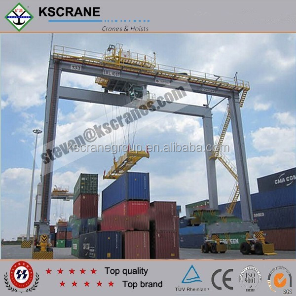 Double Girder RTG Rubber Tyre Container Gantry Crane with Lifting Limit Switch