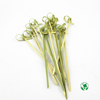 2017 hot new products wedding decorations,bamboo skewer knotted flower picks