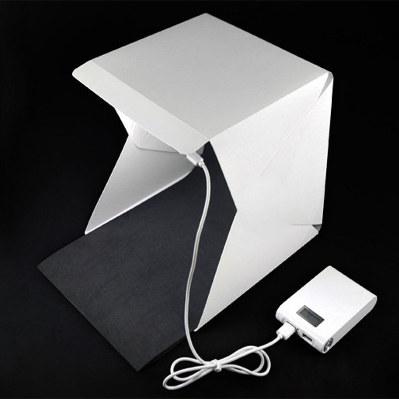 Mini portable photo studio photography studio for Micro and Still Life Multifunctional LED studio with 2 Backgrund